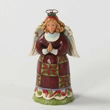 Enesco Jim Shore Heartwood Creek Mini Christmas Angel Figurine, 3-3/4-Inch