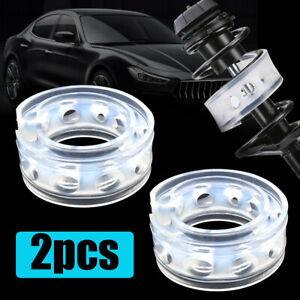 2x Car Accessory Type B Rubber Shock Absorber Spring Bumper Buffer Power Cushion