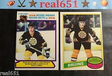 1980-81 O-Pee-Chee #140, #2 RAY BOURQUE Rookie | Bruins | Sharp | RC Lot x 2