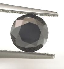 SOLITAIRE LOOSE NATURAL DIAMOND TCW 1.71 round black enhanced positive energy