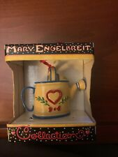 Mary Engelbreit Watering Can Ornament Yellow Red Heart w/ Box