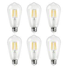 6 X Antique LED Bulb, 4W ST64 Vintage Edison Light Bulb LED Lighting, 2700K E26