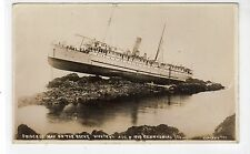 """PRINCESS MAY"" WRECKED CENNTENIAL ISLAND, 1910: Shipping postcard (C19610)"