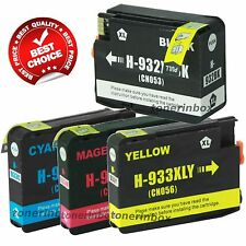 4 Pack Compatible 932XL 933XL Ink Cartridge For HP OfficeJet 7110 7610 7612