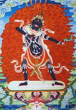 "16"" MINERAL TIBETAN THANGKA PAINTING :  BUDDHISTS PROTECTOR GODDESS, EKAJATI"