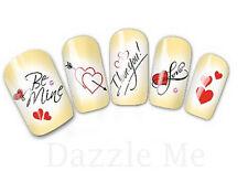 NAIL Art Adesivi Decalcomanie acqua trasferimento adesivi Cuori I Love You (db2531)