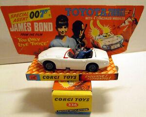 Corgi Toys 336 James Bond Toyota 2000GT,    original