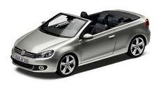 NEW GENUINE VW GOLF MK6 CABRIOLET TUNGSTEN SILVER 1:43 SCALE DIECAST MODEL CAR