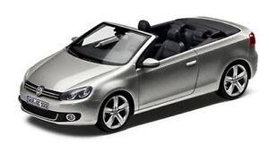 NEW GENUINE VW GOLF MK6 CABRIOLET TUNGSTEN SILVER 1:43 SCALE DIECAST MODEL CAR