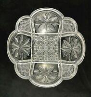 "🟢 Antique Cut Glass ABP American Brilliant Period Finely Cut 9"" Deep Bowl"