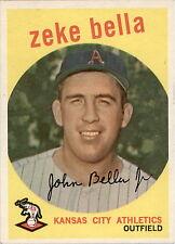1959 Topps 254A Zeke Bella Gray Back EX-MT #D318621