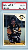 MARIO LEMIEUX 1985 O-Pee-Chee OPC Rookie Card PSA 8 NM-MT HOF Penguins #9