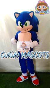 Sonic Mascot Sonic Costume cosplay botarga halloween cartoon Cielito MASCOTS