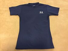 Under Armour Compression Short Sleeve Navy Blue Heatgear Youth Size Large