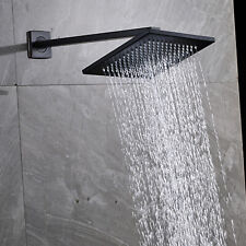 10'' Rainfall Shower Head Bathroom Square Oil Rubbed Bronze Top Sprayer With Arm