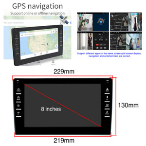 Android 9.0 8in 2.5D Car Stereo Radio MP5 Player GPS Navi Wifi FM Bluetooth USB