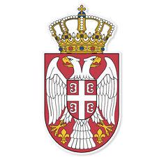 "Serbia Coat of Arms Flag car bumper sticker window decal 3"" x 6"""