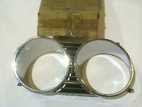 NOS MOPAR 2578375 - 66 Chrysler Newport, LH Headlight Bezel Door
