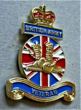 BRAND NEW BRITISH ARMY 3d VETERAN ENAMEL MILITARY PIN BADGE UK VETERAN