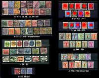 DR D, Lot Dienstmarken gestempelt; bitte auswaehlen #g905
