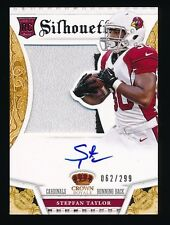 STEPFAN TAYLOR 2013 PANINI CROWN ROYALE AUTO JERSEY RC 062/299 *CARDINALS*