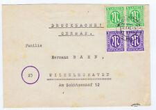Bizone/AM-Post, Mi. 1+3 i.Paar, 16 Rpfg.-Drucks.ü 50g,P 2 + 350,00,Wilhelmshaven