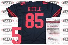 George Kittle Signed Custom Pro Style Black Alternate Jersey JSA Witnessed