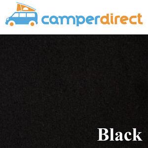 2m x 2m - Black Van Lining Carpet Kit 4 Way Stretch Inc 2 Tins High Temp Spray