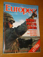 L'EUROPEO 1991/9=GUERRA GOLFO KUWAIT=SPECIALE IRAQ=BIAGIO MARIN=MC HAMMER=