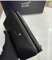 Men's Coach Black Leather MONTBLANC.100 % Genuine Leather