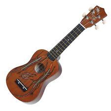 New Sanchez Soprano Dreamtime Aboriginal Ukulele 4 String Beginner Kids (Goanna)