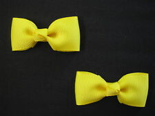 baby girl hair accessories yellow daffodil bow clips small
