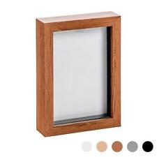 Box Picture Frame Deep 3D Photo Display 5x7 Inch Standing Hanging Dark Wood