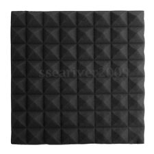 "6pcs Sound-absorbing Acoustic Foam Triangle Tile Panels Soundproofing 20""x20""x2"""