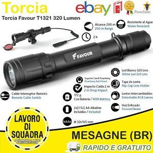 Torcia Led FAVOUR T1321 320 Lum Comando Remoto + 3 Lenti Filtri + Attacco Weaver