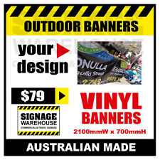 Custom Outdoor Vinyl Banner Sign  - 2100mmW x 700mmH Signage Warehouse