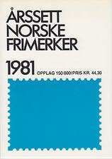 Norway, 1981 Year Set complete in Norway Post folder, fresh, Vf