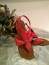 Genuine Faith~Gorgeous Red Leather Sandles/Shoes~Size 5  Perfect~Must see