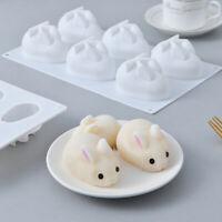 Kerzen Backform Eis ONIKOOLA 3D-Kaninchen-Silikonform Osterhasen-Form Fondant-Kuchendekorationsform S/ü/ßigkeiten Pudding Mousse Schokolade Gelee Backwaren