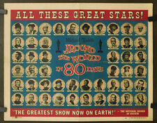 AROUND THE WORLD IN EIGHTY DAYS 1958 ORIG. 22X28 MOVIE POSTER DAVID NIVEN