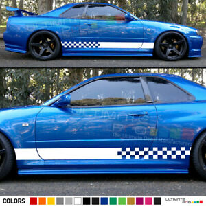 Sticker Decal stripe kit for Nissan skyline spoiler racing bonnet skirt head R34