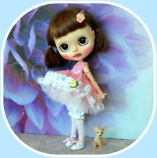 Blythe doll pink/white outfit by Petra     *** NO DOLL ***