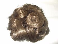 Venicelon of Italy wig womens hair piece vtg brown brunette clip on bun