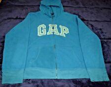 UC! Woman's/juniors GAP fleece hooded jacket GREEN zipper down XL