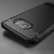 For Samsung Galaxy S6 S7 Edge Case Rubber Gel Carbon Fiber Protective Cover Skin