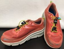Hoka One Hubble Womens Corral Pink Neon Active Sport Running Athletic Shoes Sz 8