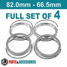 82.0 - 66.5 Spigot Rings Hub Rings FULL SET BBS wheels aluminium spacers rings