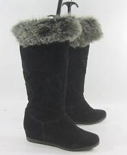 "NEW blacks  2.5""wedge heel round toe warm sexy winter boots Size 7  p"