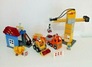 Duplo Lego Construction Site 4988 Released 2007 Retired Crane, truck, tractor,