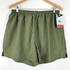 NWT Mens Soffe XL Lined Active Pull On Shorts Olive Drab Green Sorbtek Running